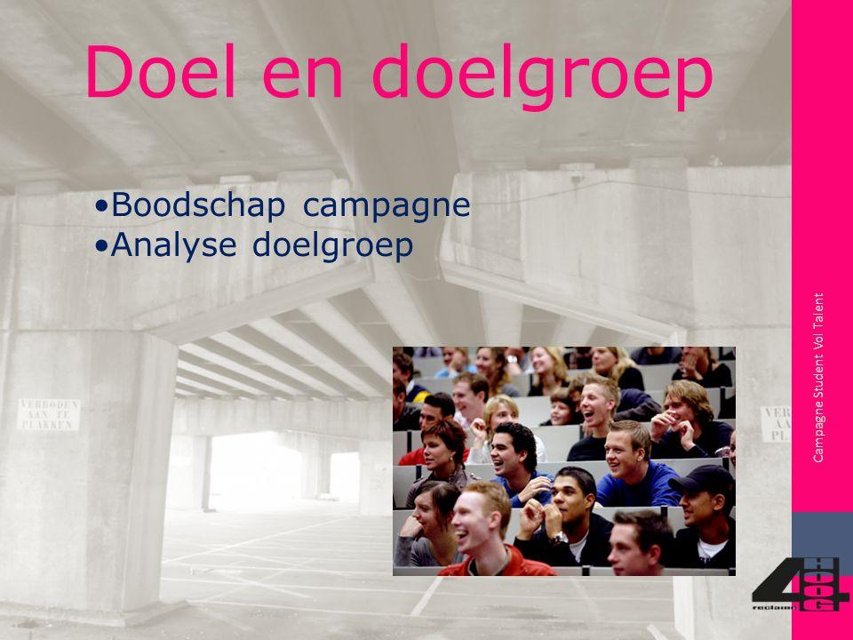 Mediumkeuze Campagne Student Vol Talent Magazine Posters/Abri's Busreclame Website