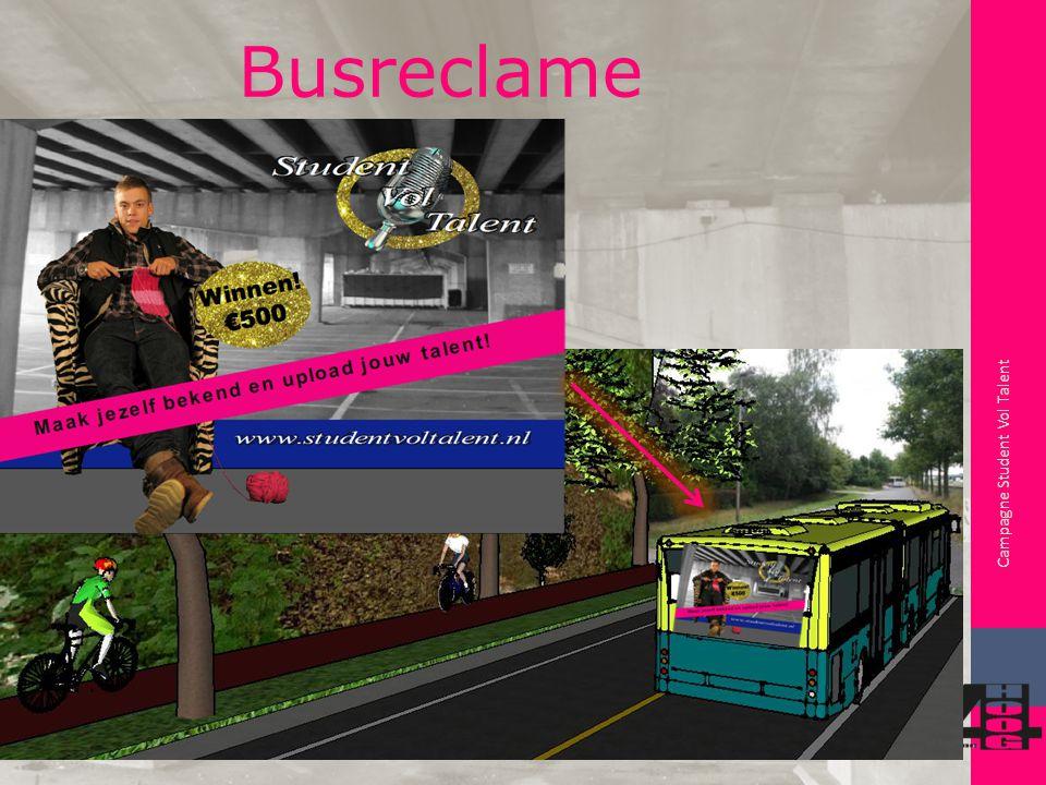 Campagne Student Vol Talent Busreclame Busroute Voorbeeld: Station – Stenden en NHL