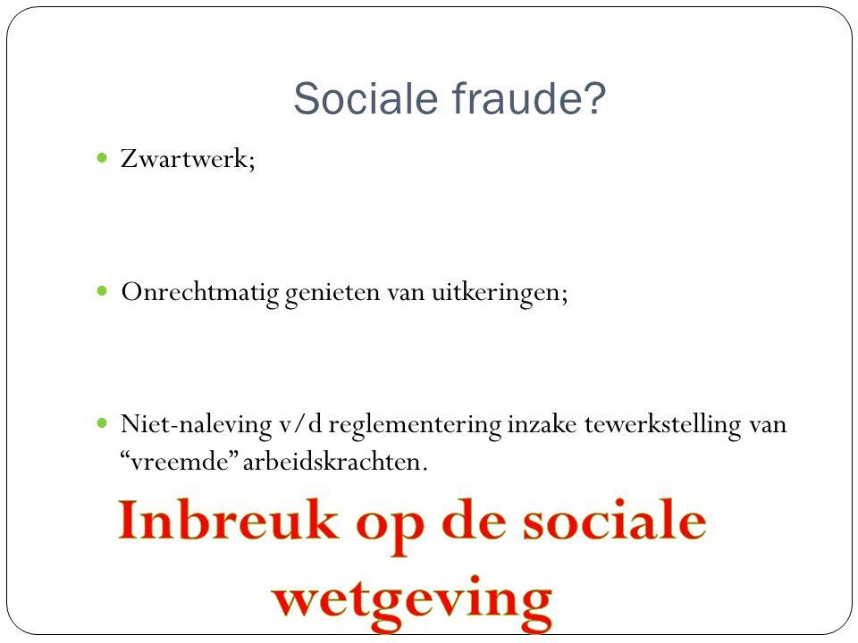Sociale fraude.