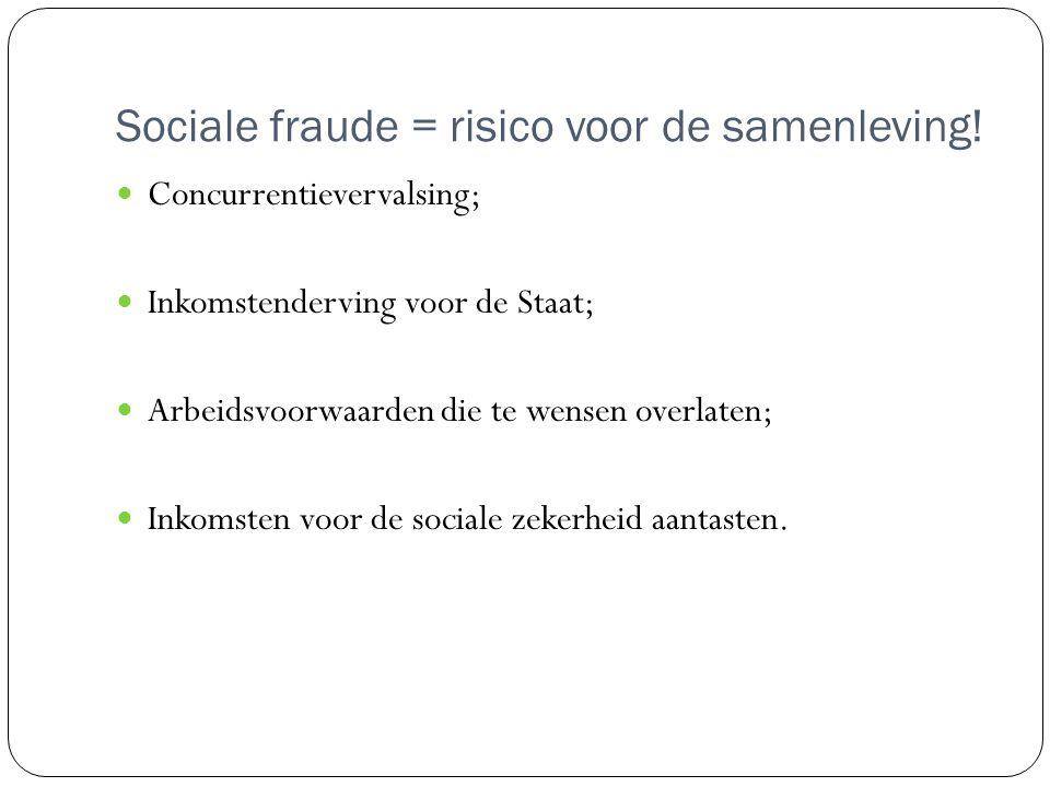 Sociale fraude = risico voor de samenleving.