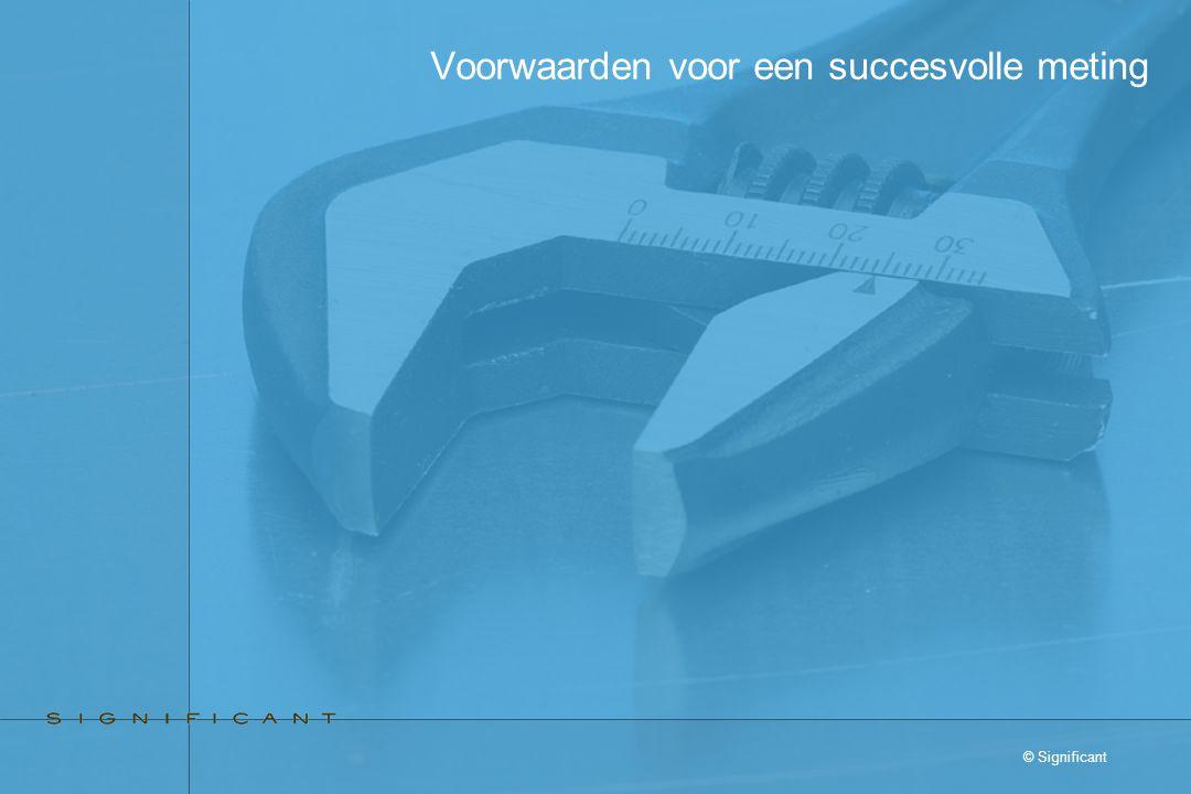 © Significant Voorwaarden voor een succesvolle meting