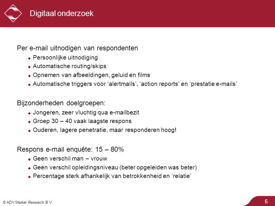 © ADV Market Research B.V. Procesgegevens: responsverloop 26  Pieken bij uitnodiging en reminder