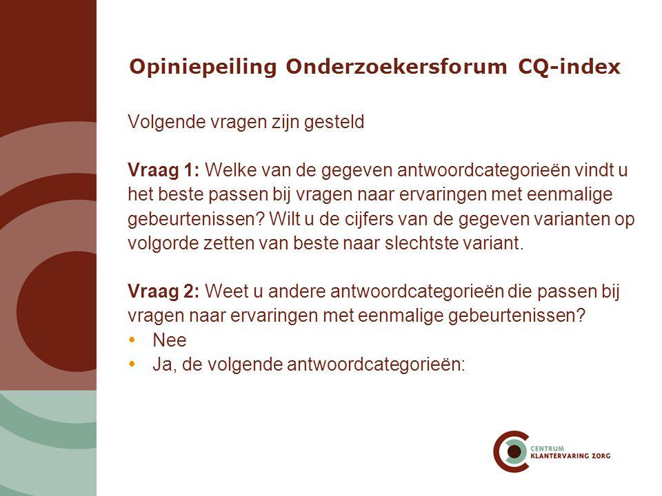 Reactie Onderzoekersforum CQ-index