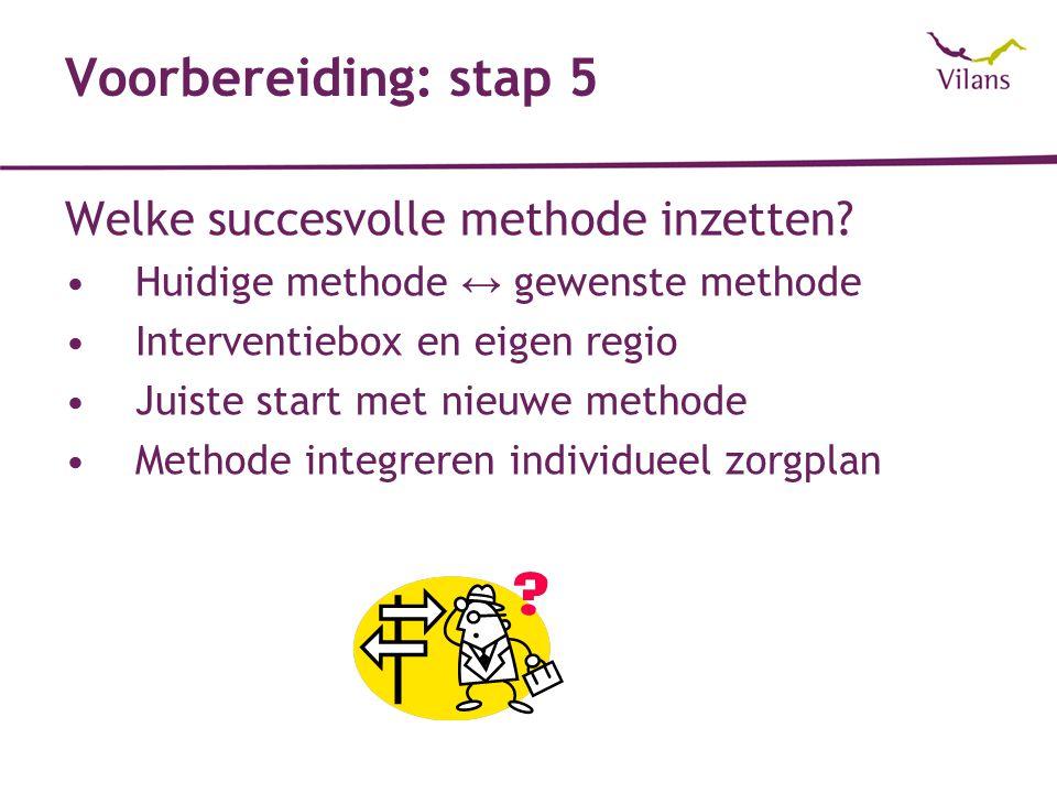 Voorbereiding: stap 5 Welke succesvolle methode inzetten.