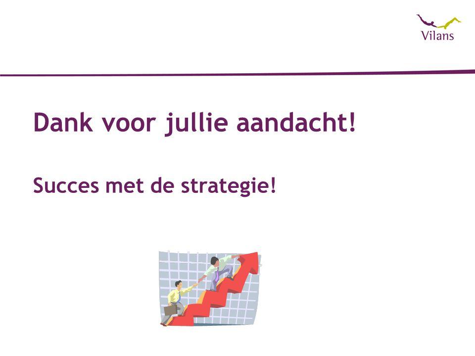 Dank voor jullie aandacht! Succes met de strategie!