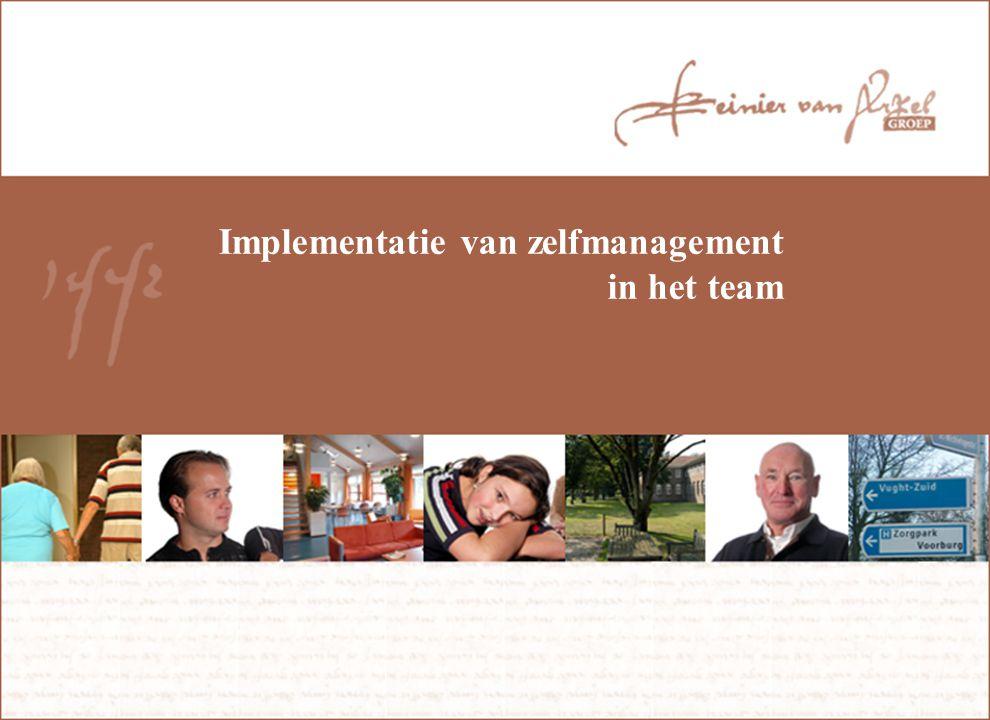 Implementatie van zelfmanagement in het team