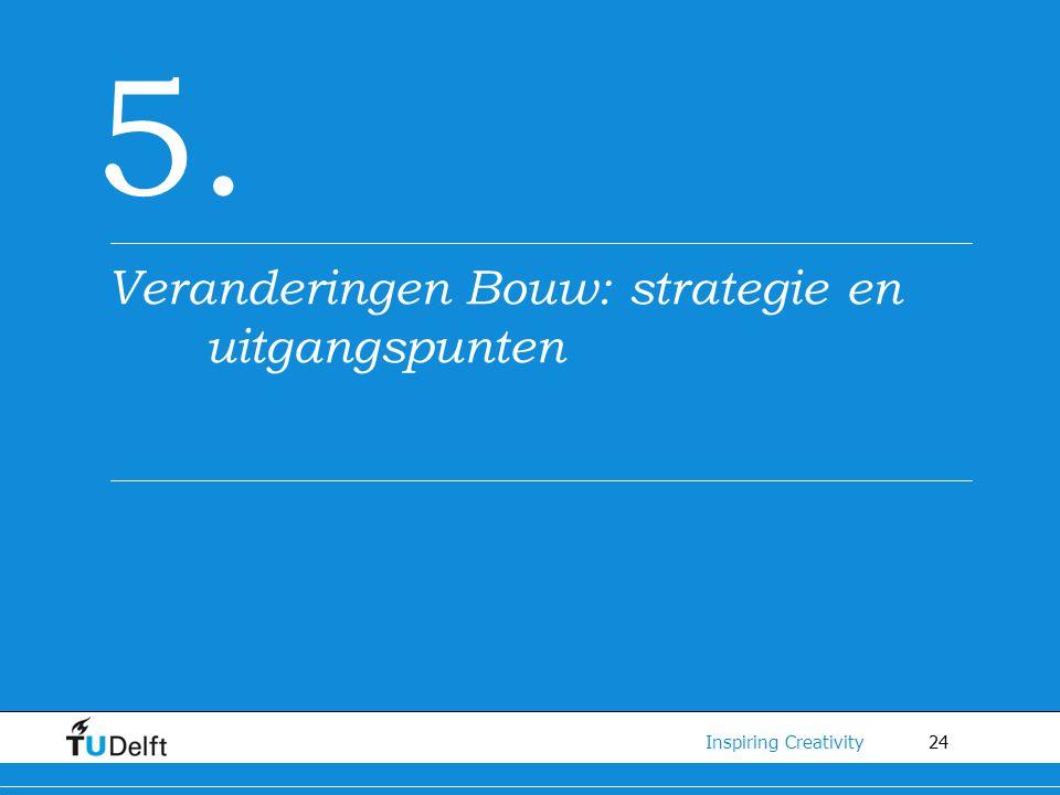 24 Inspiring Creativity 5. Veranderingen Bouw: strategie en uitgangspunten