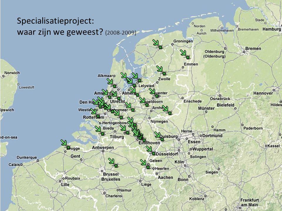 Specialisatieproject: waar zijn we geweest? (2008-2009)
