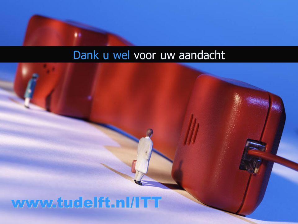 Dank u wel voor uw aandacht www.tudelft.nl/ITT