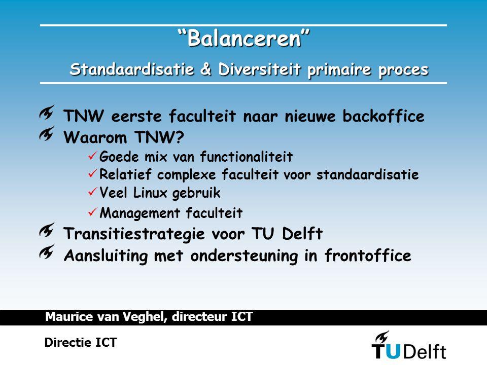 TNW eerste faculteit naar nieuwe backoffice Waarom TNW.