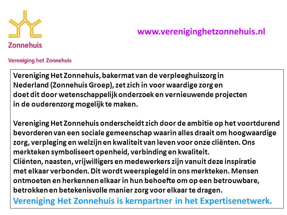 Vereniging Het Zonnehuis, bakermat van de verpleeghuiszorg in Nederland (Zonnehuis Groep), zet zich in voor waardige zorg en doet dit door wetenschappelijk onderzoek en vernieuwende projecten in de ouderenzorg mogelijk te maken.
