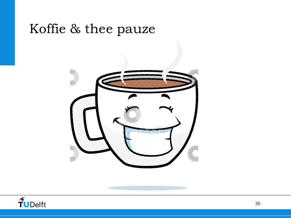 36 Koffie & thee pauze