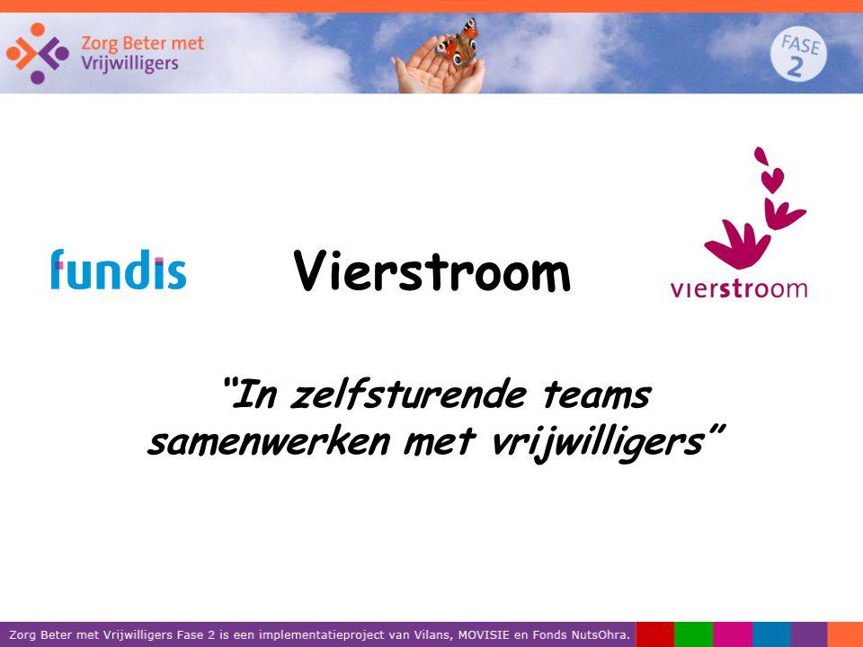 """Vierstroom """"In zelfsturende teams samenwerken met vrijwilligers"""""""