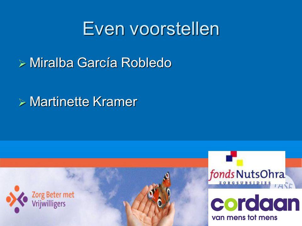 Even voorstellen  Miralba García Robledo  Martinette Kramer