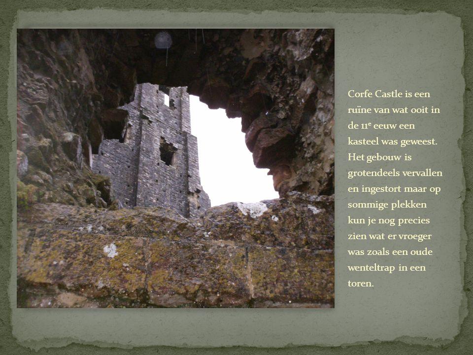 Corfe Castle is een ruïne van wat ooit in de 11 e eeuw een kasteel was geweest.