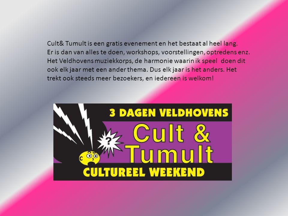 Cult& Tumult is een gratis evenement en het bestaat al heel lang.