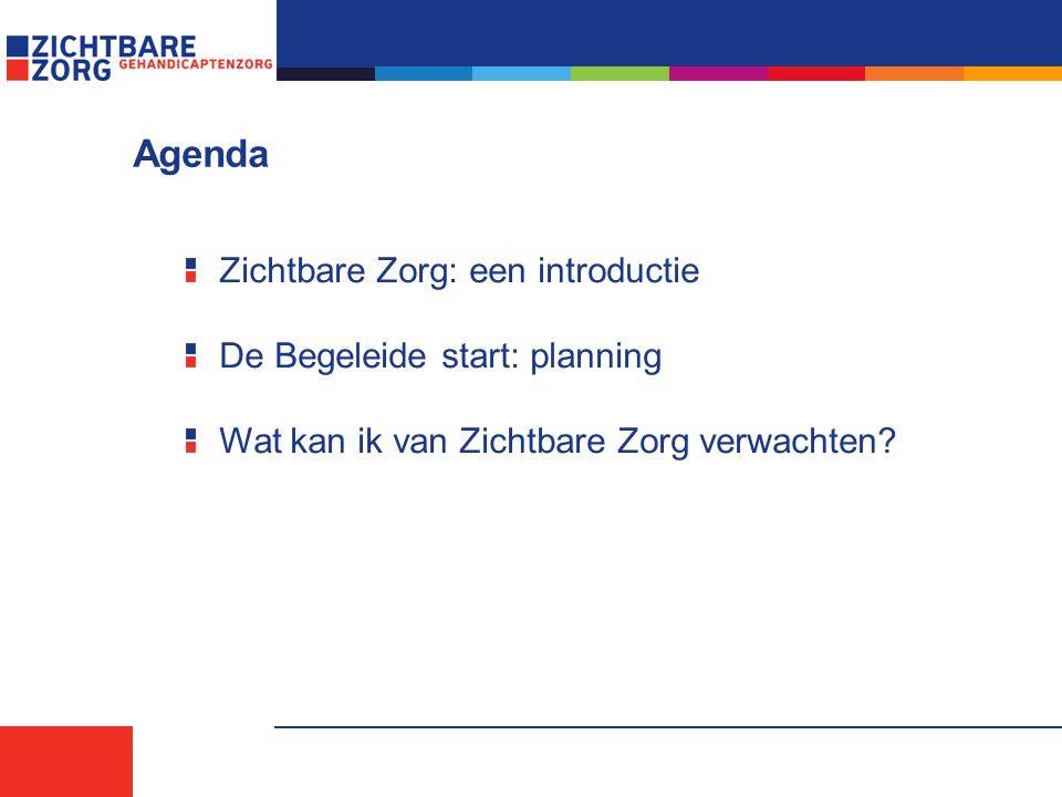 Agenda Zichtbare Zorg: een introductie De Begeleide start: planning Wat kan ik van Zichtbare Zorg verwachten