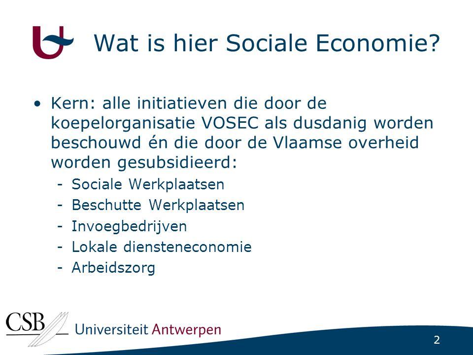 2 Wat is hier Sociale Economie.