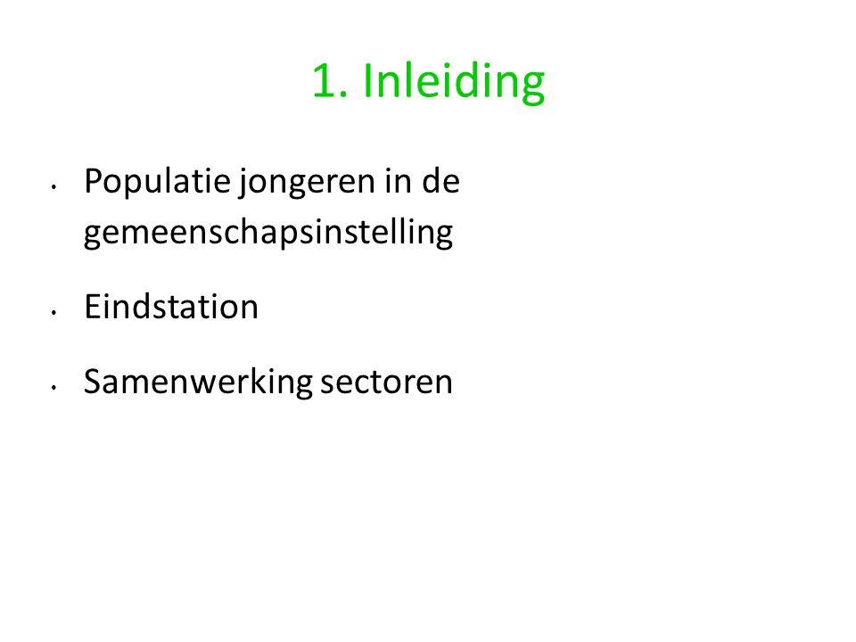 1. Inleiding Populatie jongeren in de gemeenschapsinstelling Eindstation Samenwerking sectoren