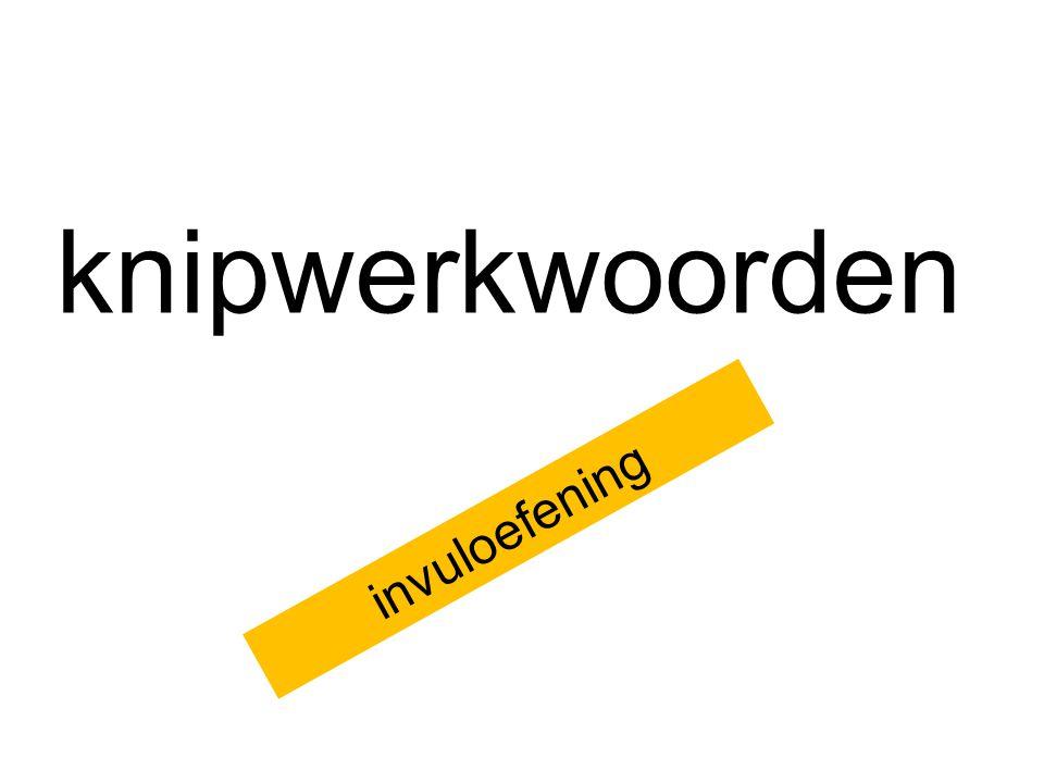 knipwerkwoorden invuloefening