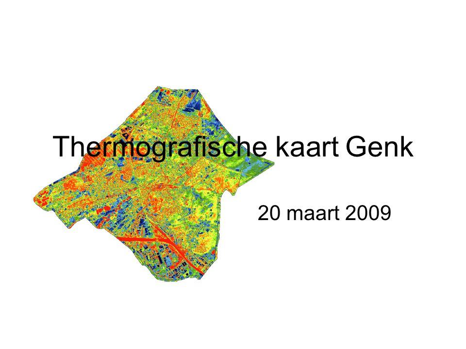 Thermografische kaart Genk 20 maart 2009