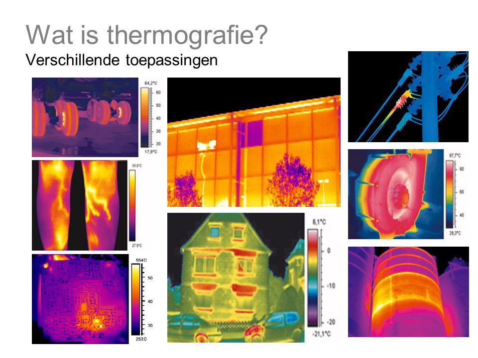 Wat is thermografie Verschillende toepassingen