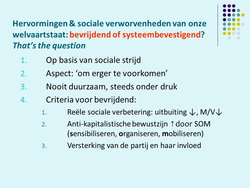 Hervormingen & sociale verworvenheden van onze welvaartstaat: bevrijdend of systeembevestigend.