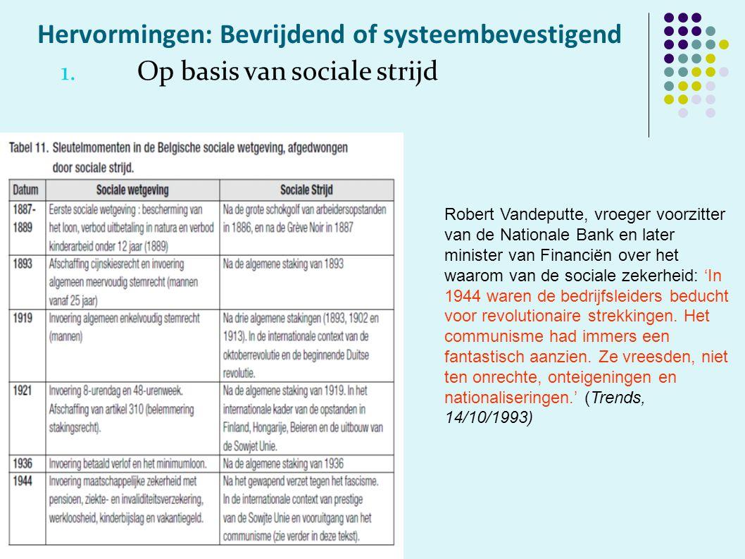 Hervormingen: Bevrijdend of systeembevestigend 1.