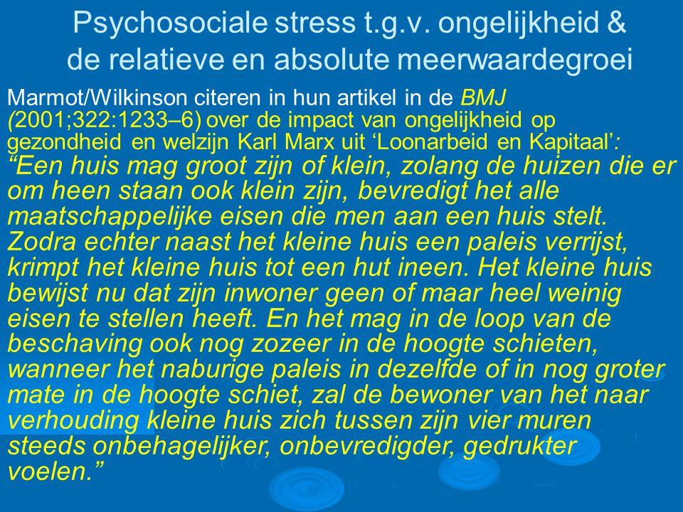 Psychosociale stress t.g.v.