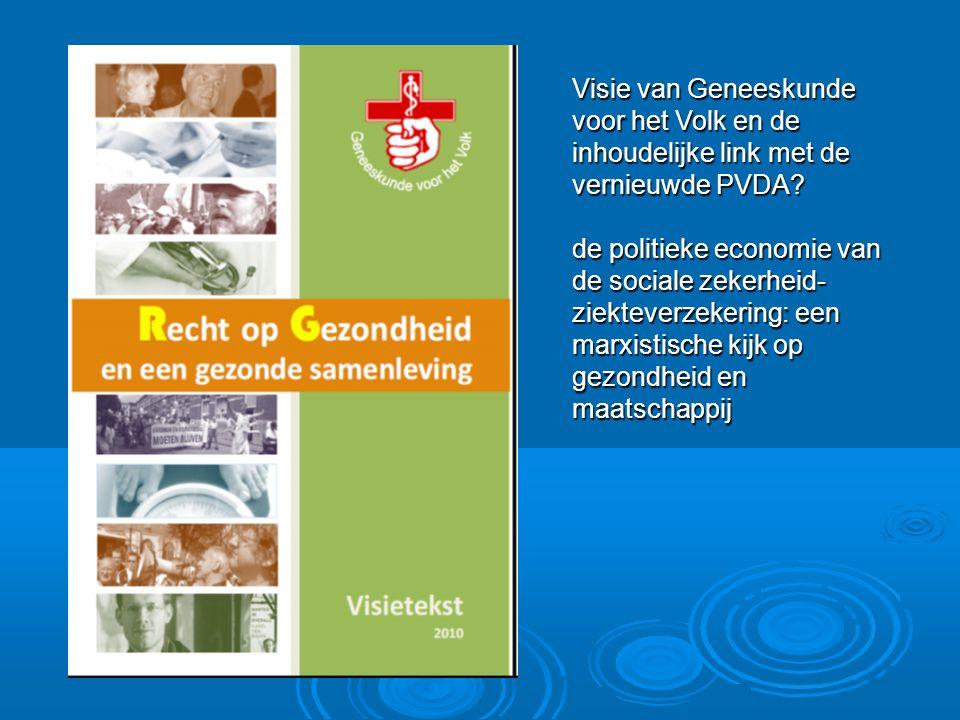 Visie van Geneeskunde voor het Volk en de inhoudelijke link met de vernieuwde PVDA.
