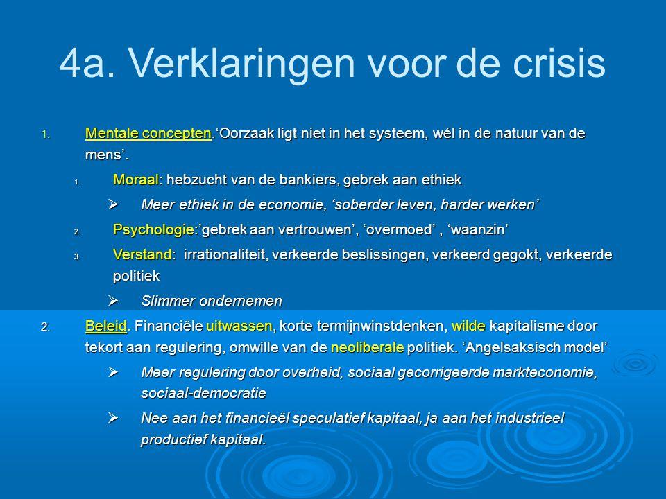 4a. Verklaringen voor de crisis 1.