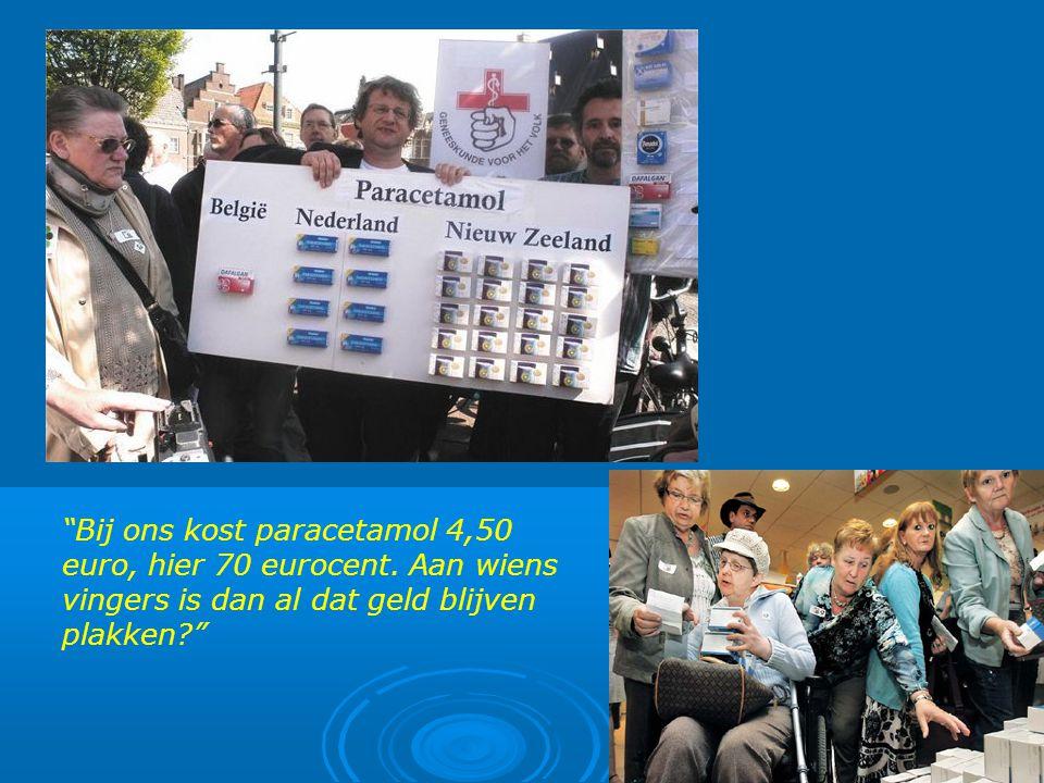 Bij ons kost paracetamol 4,50 euro, hier 70 eurocent.