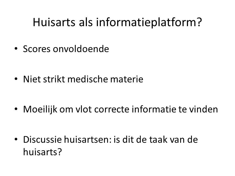 Huisarts als informatieplatform.
