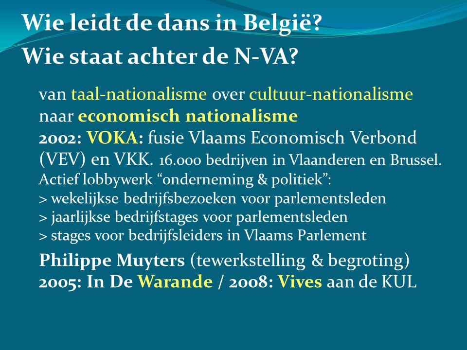 Wie leidt de dans in België. Wie staat achter de N-VA.