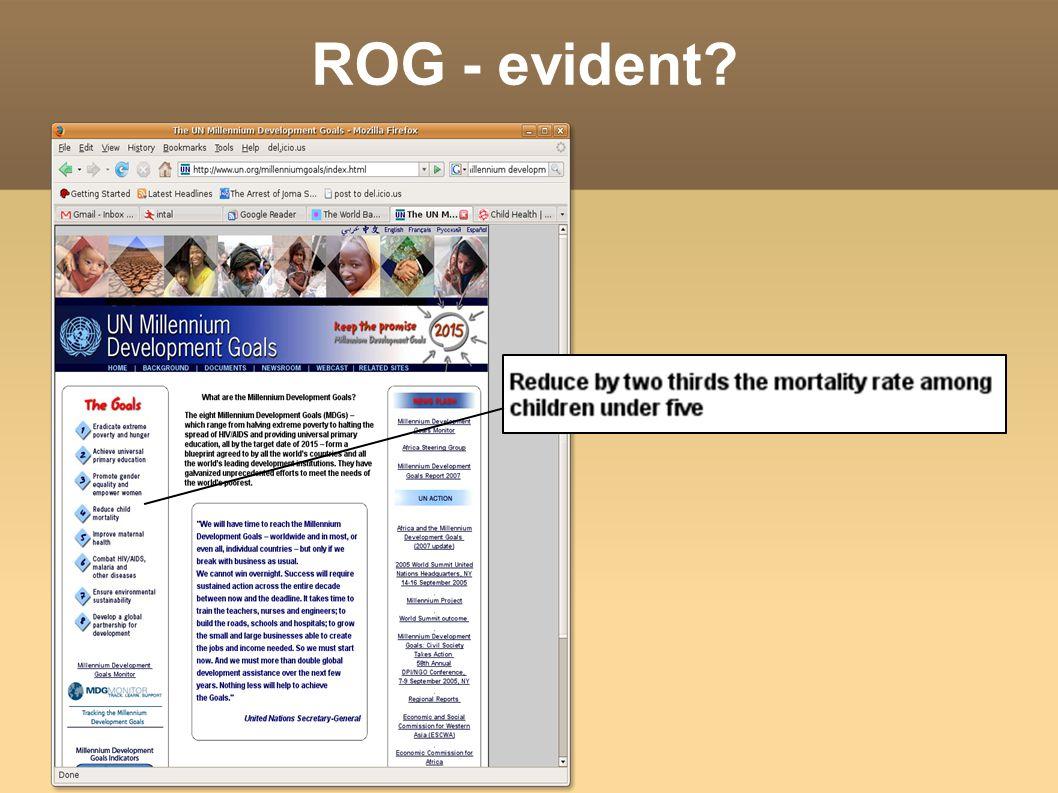 ROG - evident?