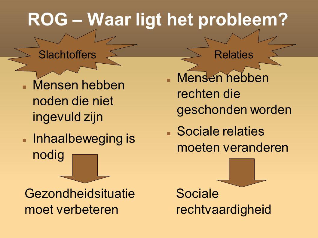 ROG – Waar ligt het probleem.