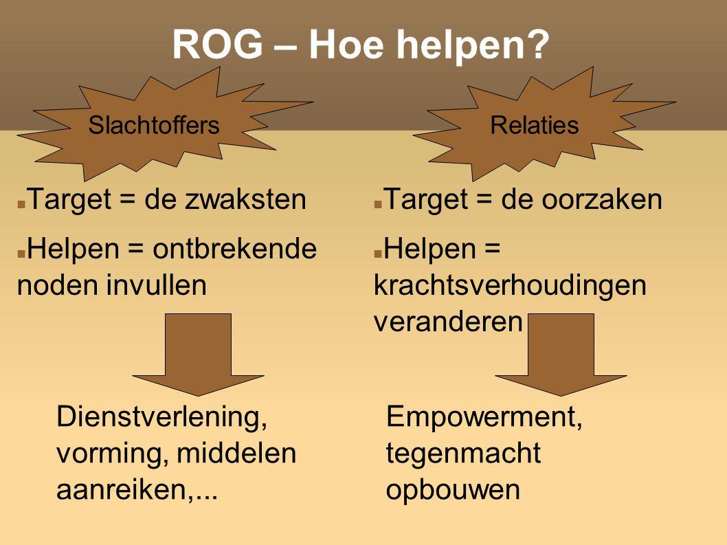 ROG – Hoe helpen.