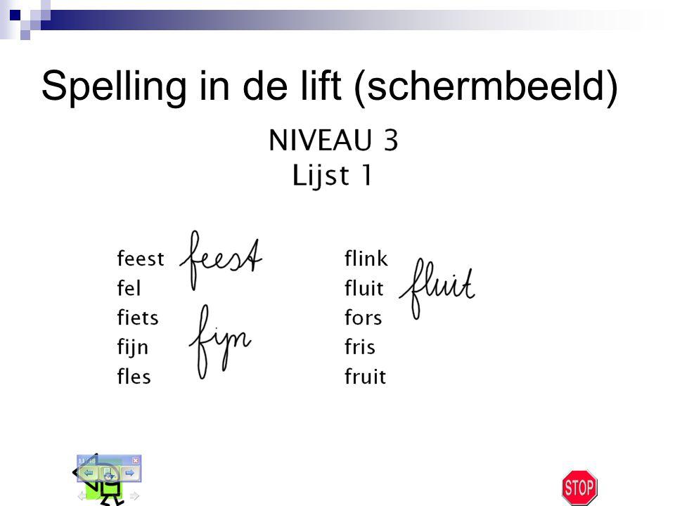 Spelling in de lift (schermbeeld)