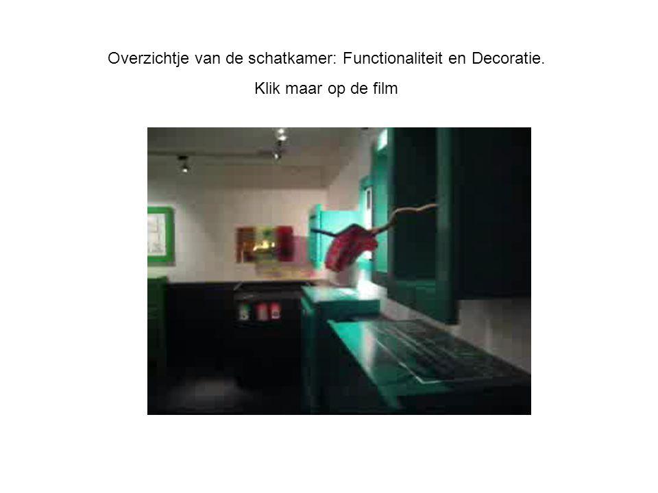 Overzichtje van de schatkamer: Functionaliteit en Decoratie. Klik maar op de film