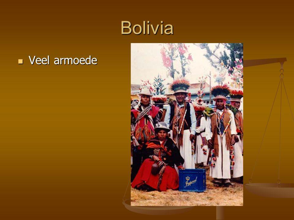 Bolivia Veel armoede Veel armoede
