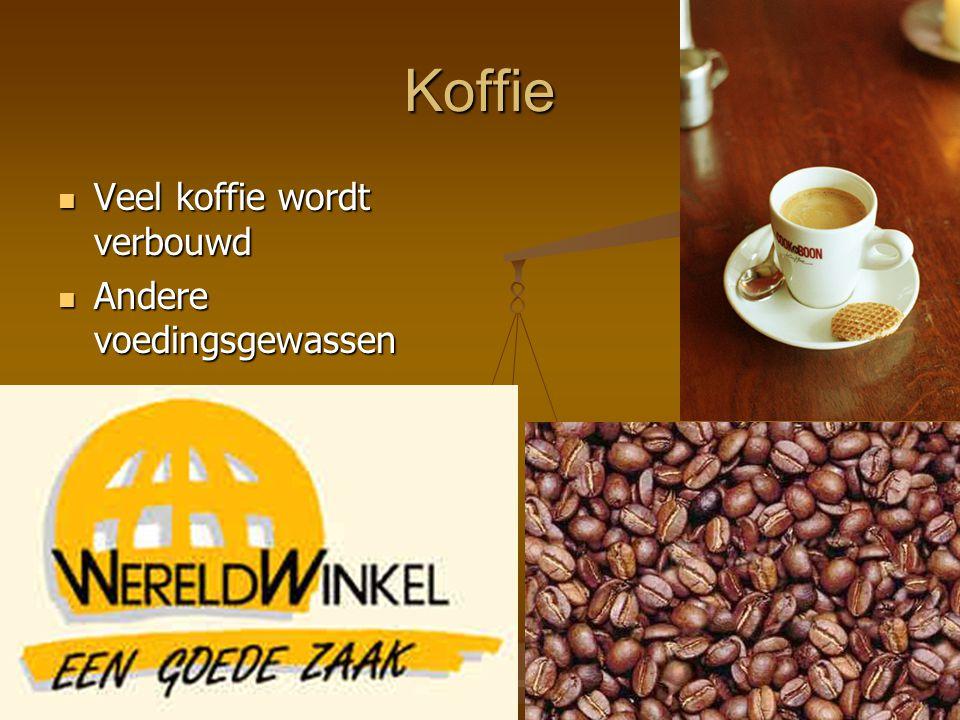 Koffie Veel koffie wordt verbouwd Veel koffie wordt verbouwd Andere voedingsgewassen Andere voedingsgewassen
