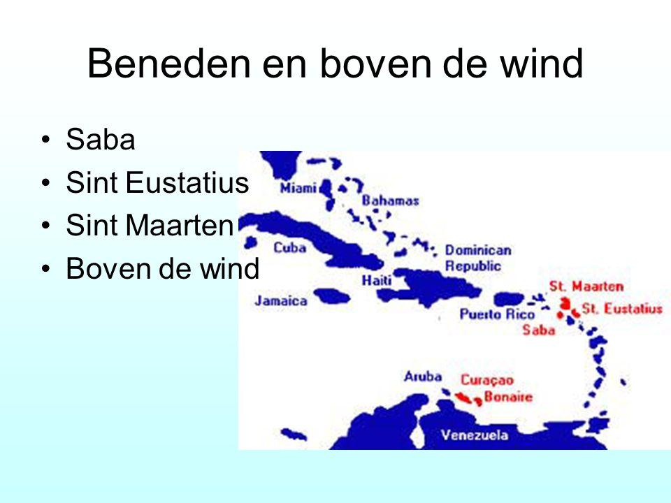 Beneden en boven de wind Saba Sint Eustatius Sint Maarten Boven de wind