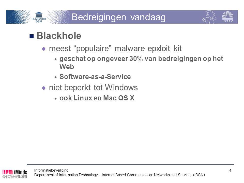 """Bedreigingen vandaag Blackhole meest """"populaire"""" malware epxloit kit  geschat op ongeveer 30% van bedreigingen op het Web  Software-as-a-Service nie"""