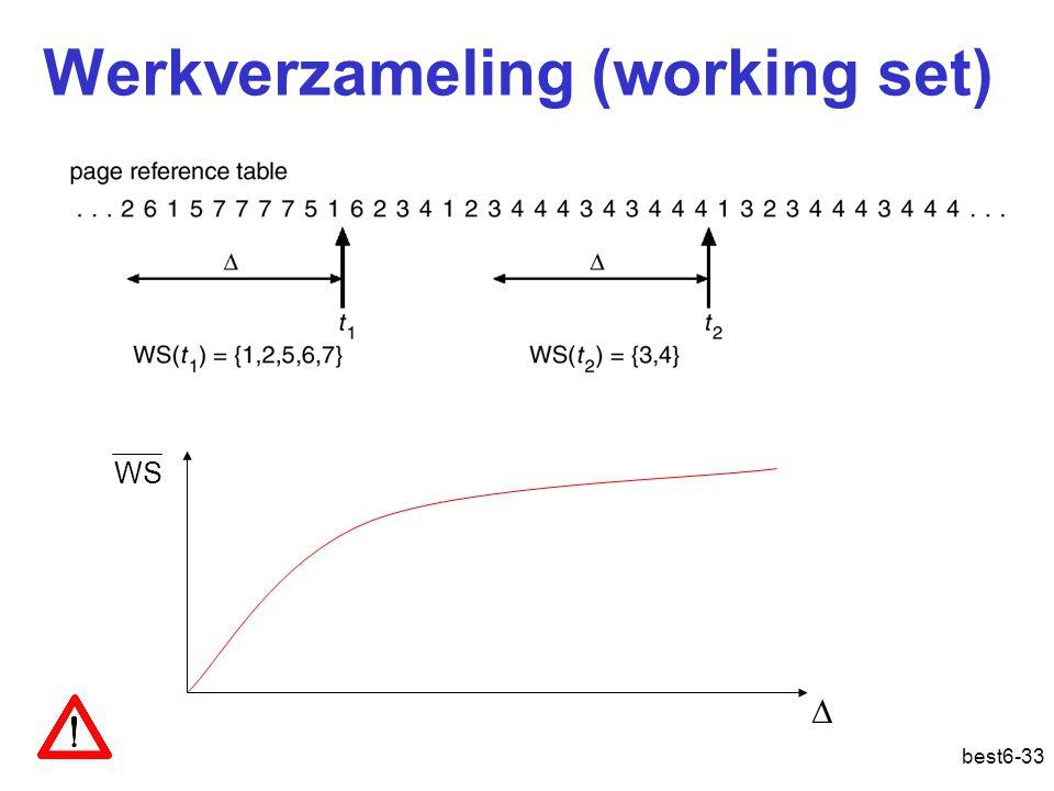 best6-33 Werkverzameling (working set)  WS