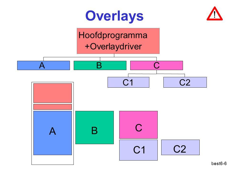 best6-6 Overlays AB C1C2 C Hoofdprogramma +Overlaydriver A B C C1 C2