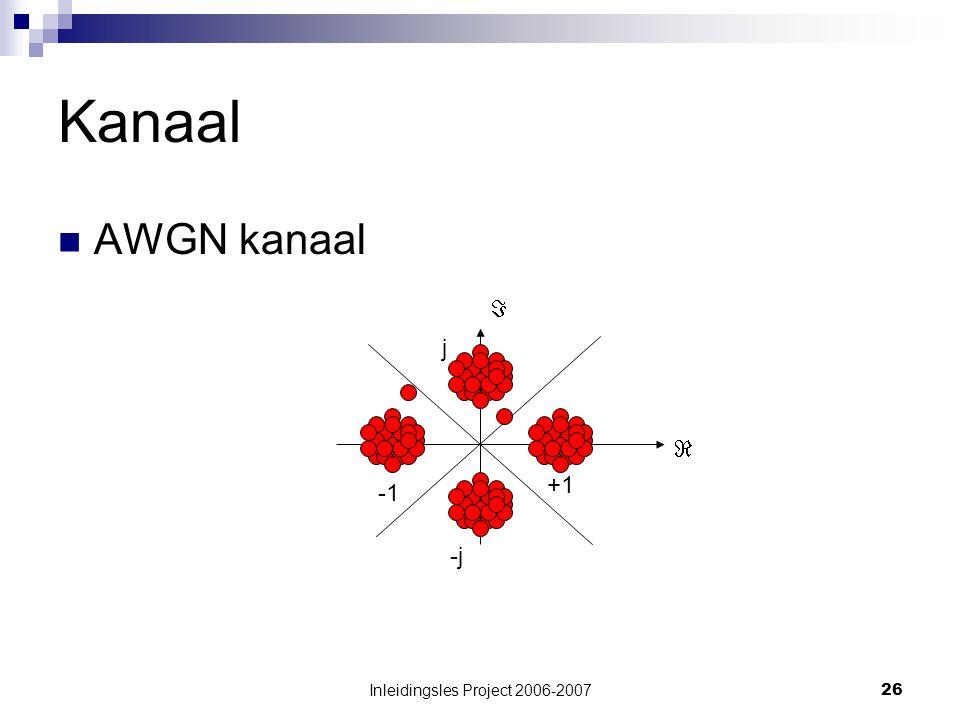 Inleidingsles Project 2006-200726 Kanaal AWGN kanaal  +1 j -j 