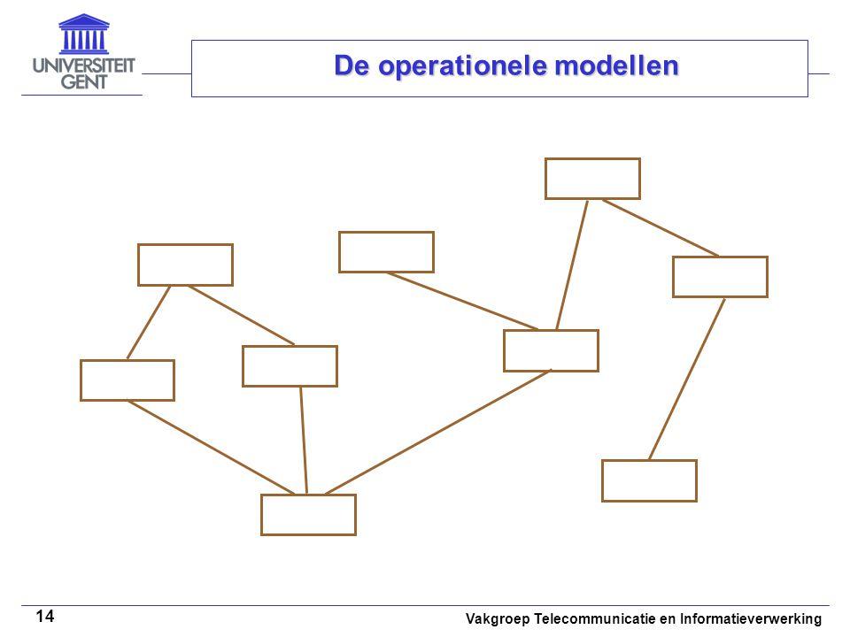 Vakgroep Telecommunicatie en Informatieverwerking 14 De operationele modellen