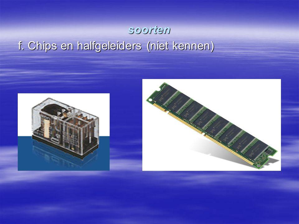 soorten f. Chips en halfgeleiders (niet kennen)