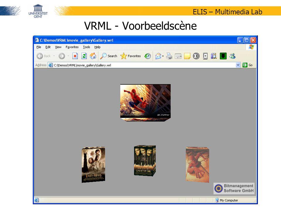 19/47 ELIS – Multimedia Lab VRML - Voorbeeldscène