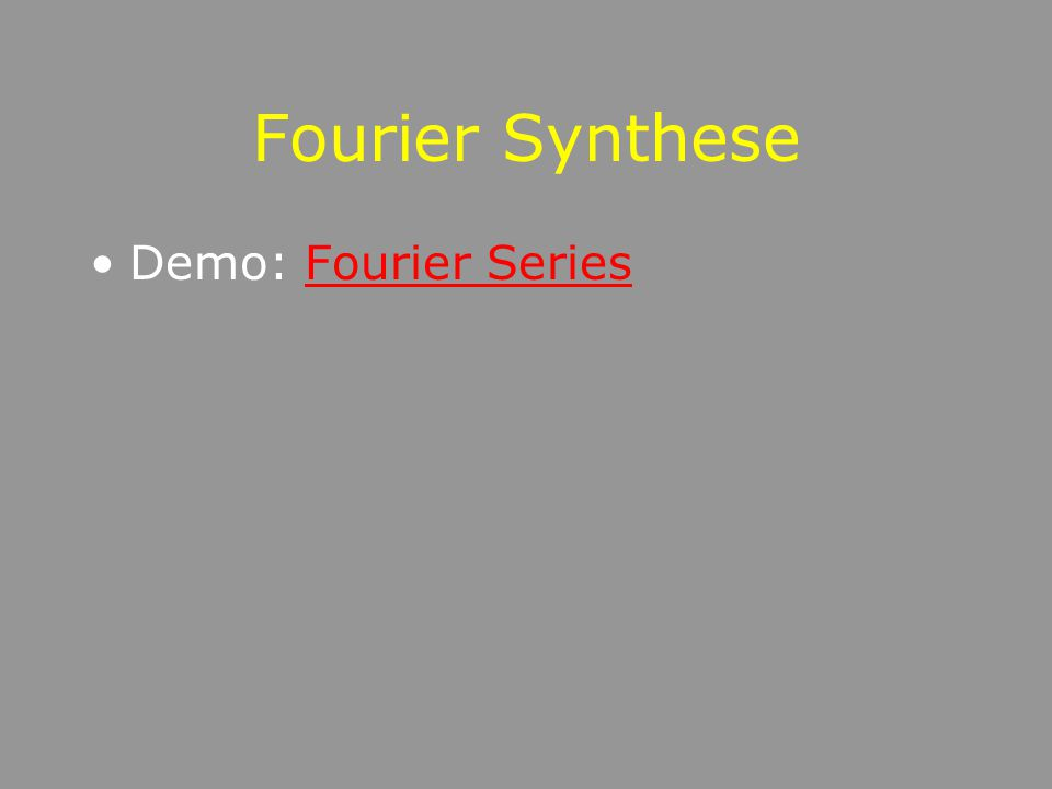 Toepassing: demodulator Signaal opnemen fft van reëel signaal Analytisch signaal maken helft van fft op nul te zetten Via ifft naar complex tijdsignaa